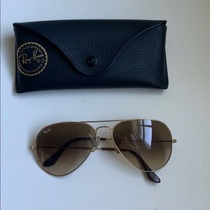 Brown Ray Ban aviators